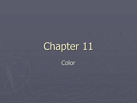 Chapter 11 Color. Introduction ► Color: our perception of wavelengths of light reflected by or transmitted through material (mineral) ► Light can be: