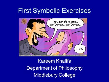 First Symbolic Exercises