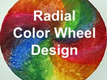 Radial Color Wheel Design. We see white because all color is reflected from the object.