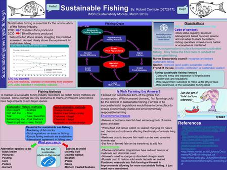 Sustainable Fishing By: Robert Crombie (0672817); IMS3 (Sustainability Module, March 2010) Fishing Cycle Fishing Methods.