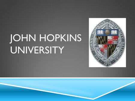 "JOHN HOPKINS UNIVERSITY. BACKGROUND KNOWLEDGE  Opened in 1876 by Daniel Coit Gilman.  They aim for ""The encouragement of research... and the advancement."