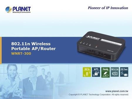 802.11n Wireless Portable AP/Router WNRT-300. 2 / 33 Outline  Product Overview  Product Features  Product Applications  Operation Mode  Web UI 