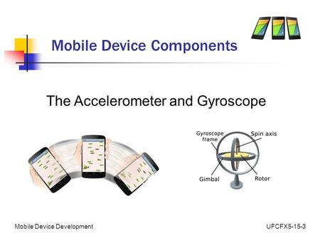 UFCFX5-15-3Mobile Device Development Mobile Device Components The Accelerometer and Gyroscope.