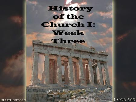 History of the Church I: Week Three. What did early Christians believe?  Orthodox: of, pertaining to, or conforming to the approved form of doctrine.