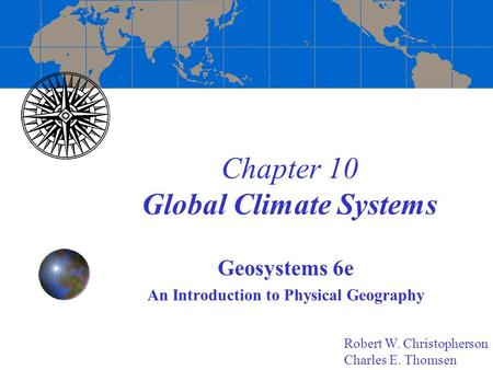 Chapter 10 Global Climate Systems