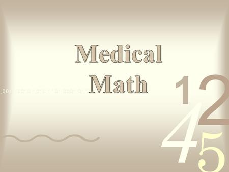 Medical Math PowerPoint with matching Listening Guide is long and comprehensive. A suggestion would be to teach it over several days and make assignments.