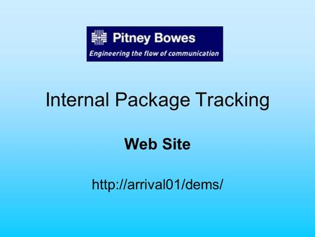 Internal Package Tracking Web Site