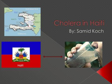 Haiti.  This project was for English and Math.  In this project we had to pick a country and find a health problem that it has.  We had to compare.