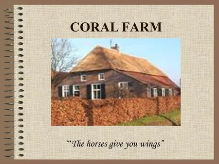 "CORAL FARM "" The horses give you wings"" LOCATION Our farmhouse is situated in a small and traditional village near Bucharest and it has 35 acres. It."