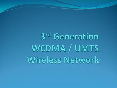 WHAT IS W-CDMA Wideband code division multiple access (W– CDMA) is a CDMA channel that is four times wider than the current channels that are typically.