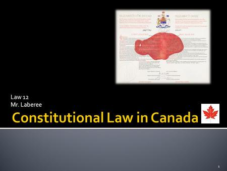 Law 12 Mr. Laberee 1. 2  The constitution establishes government jurisdiction in Canada  Ottawa is responsible for establishing health benchmarks 