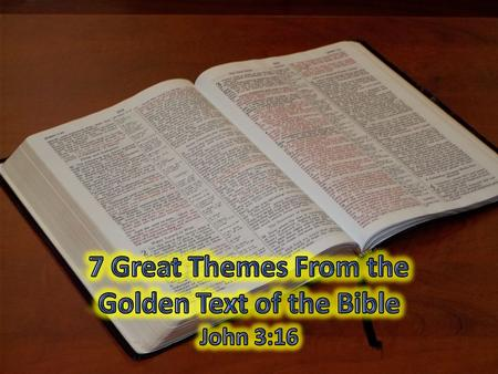 Introductory Thoughts One of the most well known passages of scripture Known and loved by children Loved and admired by adults Many people misuse it and.