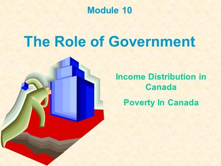 Module 10 The Role of Government Income Distribution in Canada Poverty In Canada.
