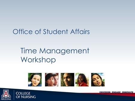 Office of Student Affairs Time Management Workshop.