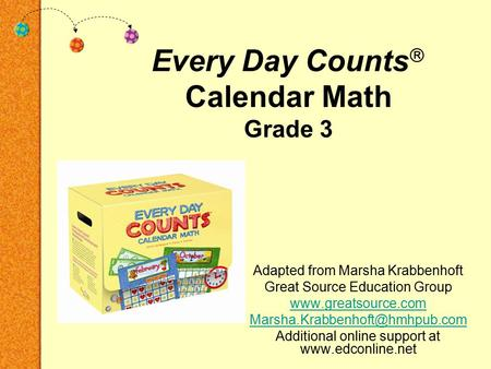 Every Day Counts Calendar Math Grade 3