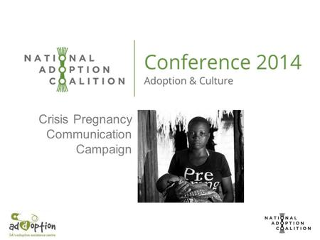 Crisis Pregnancy Communication Campaign. Background & Introduction The Addoption campaign, 'add adoption as an option', has been in existence since 2011.