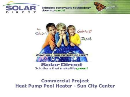Commercial Project Heat Pump Pool Heater - Sun City Center.