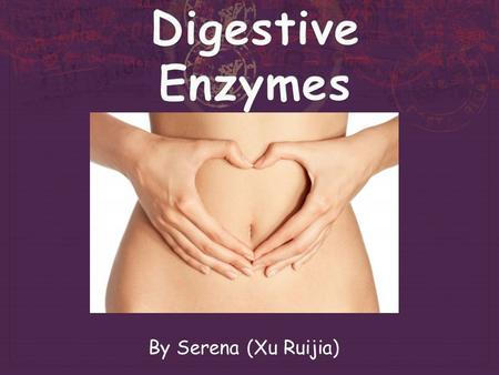 By Serena (Xu Ruijia) Digestive system  The series of the tube-like organs that convert our meals into body fuels.  The breakdown of large insoluble.