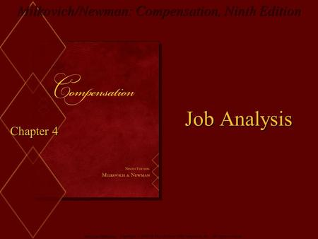 Job Analysis Chapter 4.