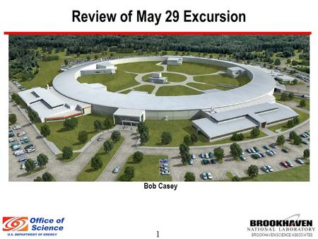1 BROOKHAVEN SCIENCE ASSOCIATES Review of May 29 Excursion Bob Casey.