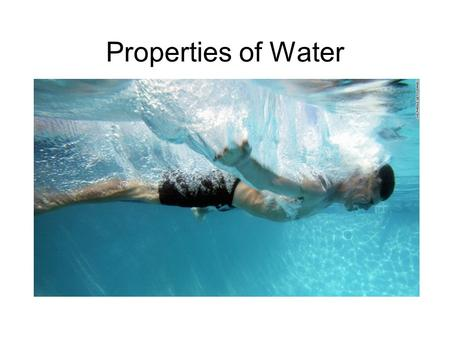 Properties of Water. Water = H 2 O Oxygen and Hydrogen are bonded together by Covalent Bonds O and H share some electrons.