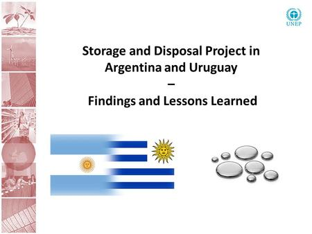 Storage and Disposal Project in Argentina and Uruguay – Findings and Lessons Learned.