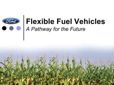 Flexible Fuel Vehicles A Pathway for the Future. Overview ● A Pathway for Today and Tomorrow: E85 ● The Auto Industry's Commitment ● Infrastructure –