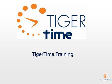 TigerTime Training. Disclaimer: Please contact the Offices of Human Resources and/or Payroll and Employee Benefits for specific policy questions. Please.