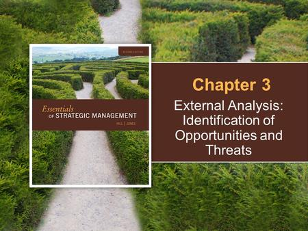 External Analysis: Identification of Opportunities and Threats Chapter 3.