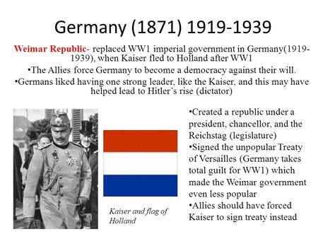 National study germany 1919 1939