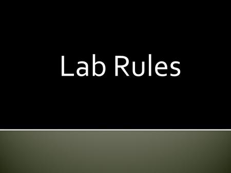 Lab Rules.  Place Measuring Tools on Red Tray  Go to the Supply Table to get ingredients  If you spill please clean up your mess.