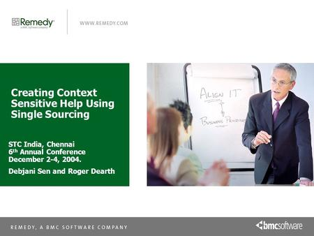 Creating Context Sensitive Help Using Single Sourcing