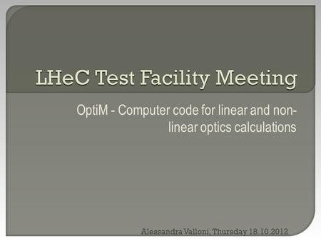 LHeC Test Facility Meeting