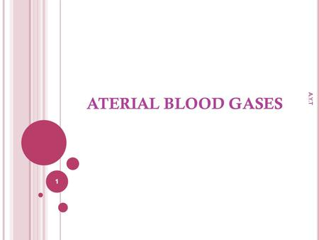 ATERIAL BLOOD GASES A.Y.T.