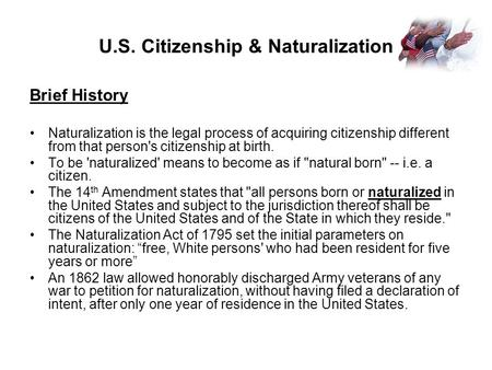 U.S. Citizenship & Naturalization