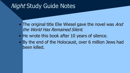 NIGHT Book by ELIE WIESEL – Review, Summary, Online (Get This Book)
