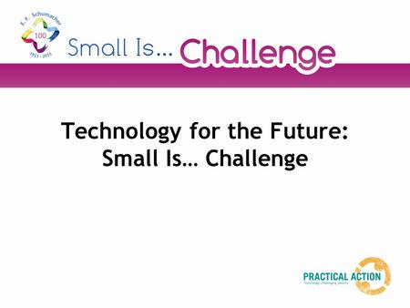 Technology for the Future: Small Is… Challenge. Starter activity In small groups, mind map as many new technologies that you can think of that have been.