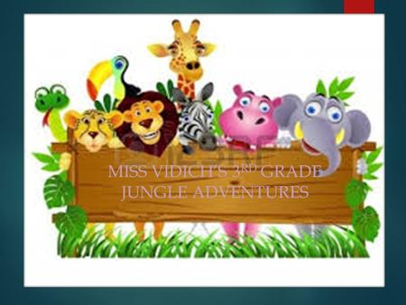 MISS VIDICH'S 3 RD GRADE JUNGLE ADVENTURES.  About Me About Me  Student Resources Student Resources  Parent Resources Parent Resources  Teacher Resources.