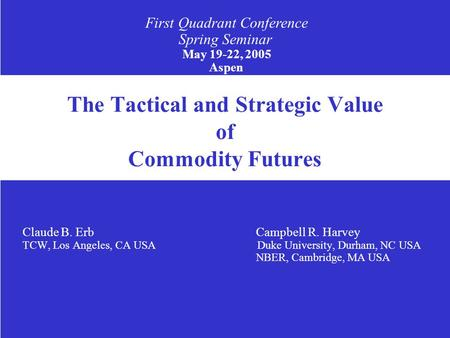 Evaluating trading strategies campbell harvey