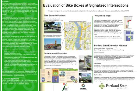 Abstract Bicycle use as a primary means of commuting to work increased 145% (American Community Survey, US Census Bureau) from 1996 to 2006 in Portland,