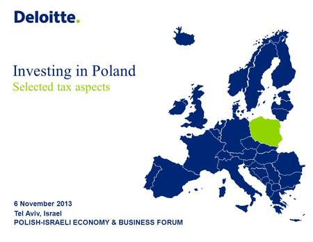 Investing in Poland Selected tax aspects