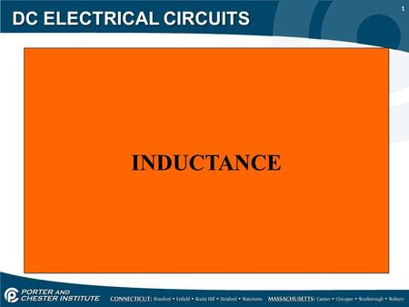 1 DC ELECTRICAL CIRCUITS INDUCTANCE. 2 DC ELECTRICAL CIRCUITS When current travels down a conductor it creates a magnetic field around the conductor,