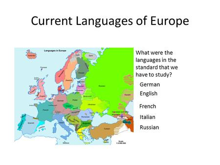 Current Languages of Europe