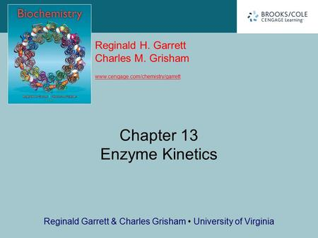 Chapter 13 Enzyme Kinetics