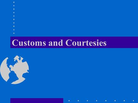 Customs and Courtesies | Army Study Guide