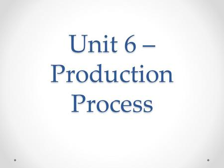 Unit 6 – Production Process. Radio Commercial Forms Straight-Read Copy is presented with no music or other effects Depend on quality of one's voice Emphasis,
