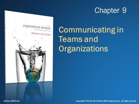 Communicating in Teams and Organizations
