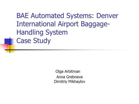 denver international airport baggage handling system There are many documented problems associated with the baggage system  airport baggage-handling system  handling system at the denver international.