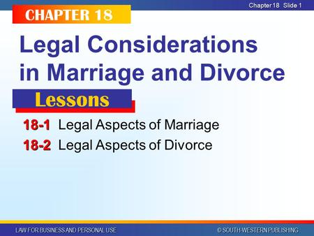 Legal Considerations in Marriage and Divorce