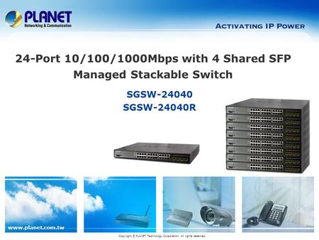 24-Port 10/100/1000Mbps with 4 Shared SFP Managed Stackable Switch